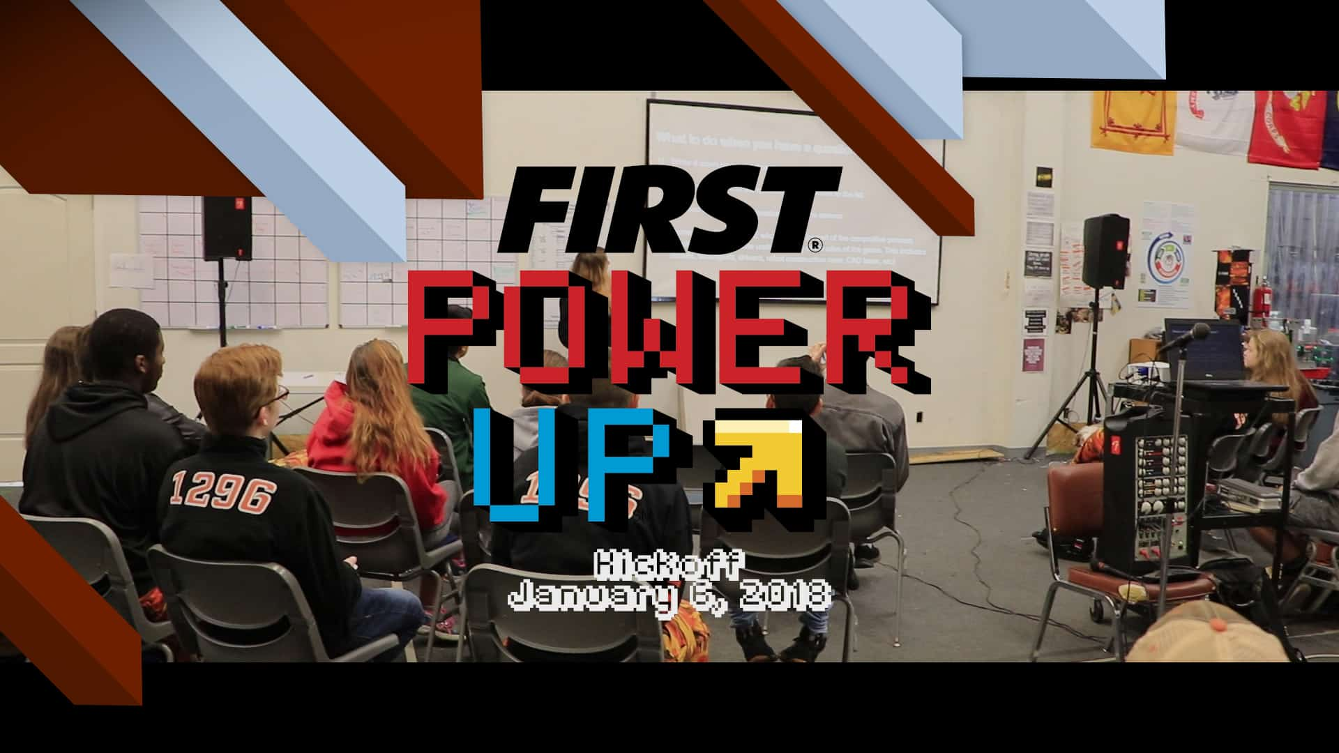 FIRST Robotics Power Up Kickoff 2018